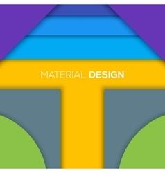 Modern unusual modern material design vector