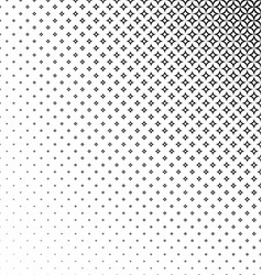 Monochrome curved star pattern background design vector image