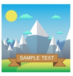 Mountain landscape Flat design vector