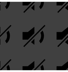 Mute sound web icon flat design Seamless pattern vector image