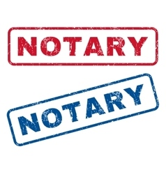 Notary rubber stamps vector
