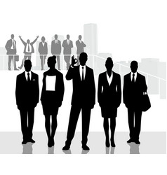 one of the business teams vector image