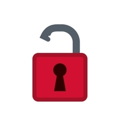 Padlock security system vector