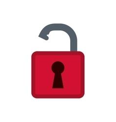 Padlock security system vector