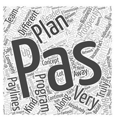 Pas is different very different part or word cloud vector