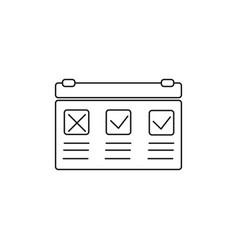 Planning event calendar icon vector