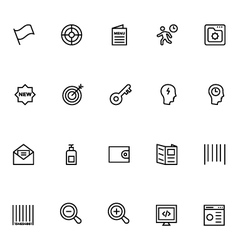 Productivity and development icons 1 vector