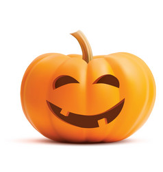 pumpkin face on white background pumpkin scary vector image