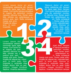 Puzzle with numbers and place for your text vector image