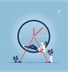 relax time-businessman having a short break vector image