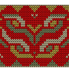 Retro christmas knitted seamless pattern vector