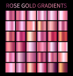 Rose gold gradients collection for design vector
