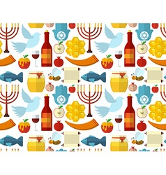 Rosh Hashanah Shana Tova or Jewish New year vector