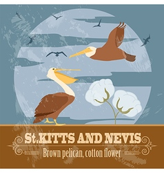 Saint Kitts and Nevis national symbols Brown vector image