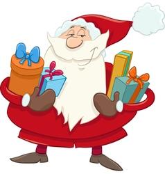 Santa with presents cartoon vector