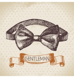 Sketch gentlemen accessory vector image
