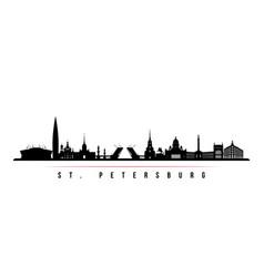 St petersburg skyline horizontal banner vector
