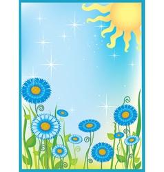 Summer field of flowers vector image vector image