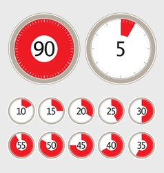 timer collection vector image