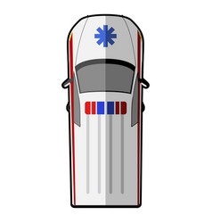 Top view of an ambulance vector