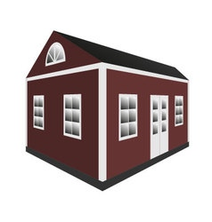Traditional swedish home in perspective vector