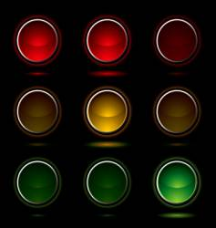 Traffic light buttons vector