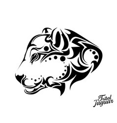 Tribal Jaguar tattoo vector image