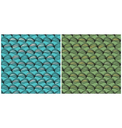 Two graphic of a seamless pattern vector image vector image