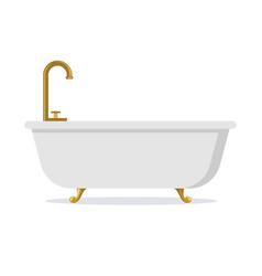 White bathtub isolated vector