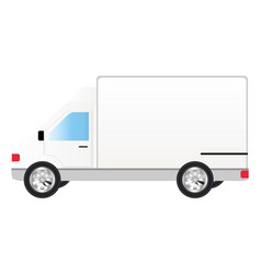 white transport truck car vector image