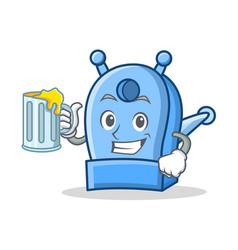 With juice pencil sharpener character cartoon vector