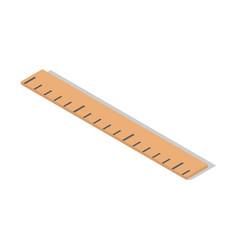 wood school ruler cm icon isometric style vector image