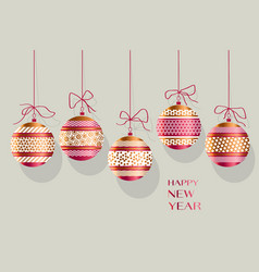 xmas ornamented bauble vector image