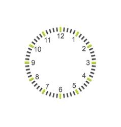 Abstract minimal clock on white wall vector image vector image