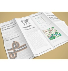 Folded paper booklet vector image vector image