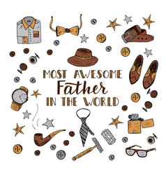 quote most awesome father in the world vector image vector image