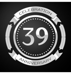 Thirty nine years anniversary celebration with vector image vector image