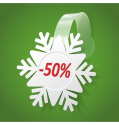 Wobbler with White Snowflake Editable background vector image