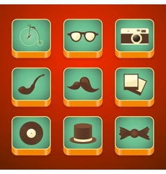 background for the app icons set hipster items vector image
