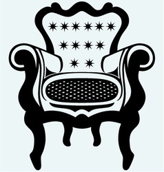 Classic armchair vintage vector image vector image