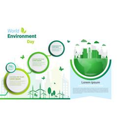 earth green city world environment day ecology vector image vector image