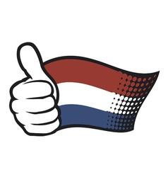 Flag of Holland - Flag Netherlands vector image vector image