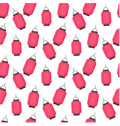 lantern flat seamless pattern vector image