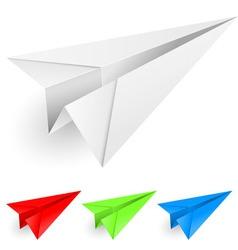 paper dart vector image vector image