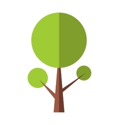 Tree flat icon vector image vector image