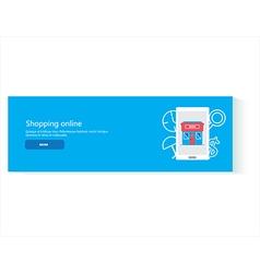 banner shopping online vector image