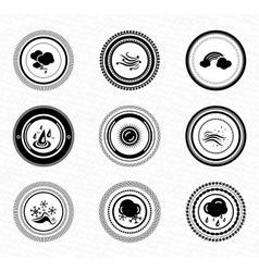 Black retro labels and badges nature vector image vector image