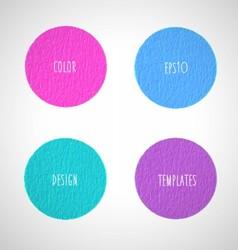 Color circles design templates vector image vector image