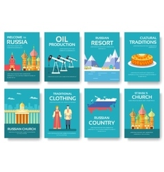 Country russia travel vacation guide of goods vector