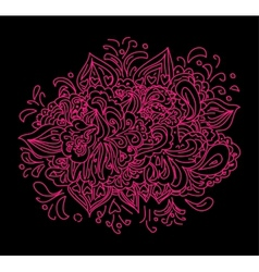 purple black floral abstraction vector image vector image